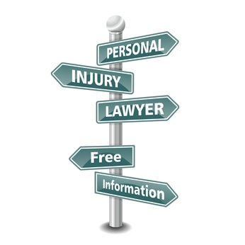 PERSONAL INJURY LAWYER icon as signpost - NEW TOP TREND